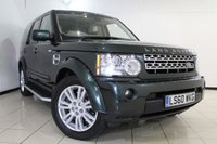 USED 2010 60 LAND ROVER DISCOVERY 4 3.0 4 TDV6 HSE 5DR 245 BHP FULL SERVICE HISTORY + FRONT/REAR HEATED LEATHER SEATS + 7 SEATS + SAT NAVIGATION + REVERSE CAMERA + SIDE STEPS + PARKING SENSOR + BLUETOOTH + CRUISE CONTROL + MULTI FUNCTION WHEEL + 19 INCH ALLOY WHEELS
