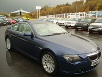USED 2004 04 BMW 6 SERIES 4.4 645CI 2d 329 BHP Cream leather, glass sunroof, FSH 14 stamps stunning car