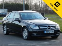 2010 MERCEDES-BENZ C CLASS 1.8 C180 CGI BLUEEFFICIENCY SE 4d AUTO 156 BHP £7495.00