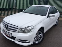 USED 2013 13 MERCEDES-BENZ C CLASS 2.1 C220 CDI BLUEEFFICIENCY EXECUTIVE SE 4d 168 BHP LEATHER FSH FACELIFT MODEL. STUNNING WHITE WITH FULL BLACK LEATHER TRIM. CRUISE CONTROL. 16 INCH ALLOYS. COLOUR CODED TRIMS. PARKING SENSORS. BLUETOOTH PREP. CLIMATE CONTROL. R/CD PLAYER. 6 SPEED MANUAL. MFSW. MOT 01/19. ONE PREV OWNER. FULL SERVICE HISTORY. FCA FINANCE APPROVED DEALER. TEL 01937 849492