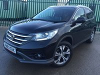 USED 2013 63 HONDA CR-V 2.2 I-DTEC EX 5d AUTO 148 BHP PAN ROOF SAT NAV LEATHER FSH NO FINANCE REPAYMENTS FOR 2 MONTHS STC. 4WD. SATELLITE NAVIGATION. PANORAMIC SUNROOF. STUNNING BLACK MET WITH FULL BLACK LEATHER TRIM. ELECTRIC MEMORY HEATED SEATS. CRUISE CONTROL. 18 INCH ALLOYS. COLOUR CODED TRIMS. PRIVACY GLASS. PARKING SENSORS. REVERSING CAMERA. BLUETOOTH PREP. CLIMATE CONTROL. TRIP COMPUTER. R/CD/MP3 PLAYER. MFSW. MOT 12/18. ONE PREV OWNER. FULL SERVICE HISTORY. FCA FINANCE APPROVED DEALER. TEL 01937 849492.