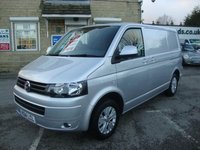 USED 2014 14 VOLKSWAGEN TRANSPORTER 2.0 TDI BLUEMOTION TECH HIGHLINE TOP SPEC HIGHLINE MODEL + ALLOYS  AIR CON & LOW MILES