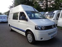 USED 2014 63 VOLKSWAGEN TRANSPORTER T5 CAMPER T32 2.0 TDI 140PS 4MOTION 4WD + HIGH ROOF ( UNIQUE SPEC ! ) VERY RARE LONG HIGH ROOF COMBI WITH 4X4 4MOTION AND 140 BHP MODEL !