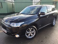 USED 2014 63 MITSUBISHI OUTLANDER 2.3 DI-D GX 3 5d 147 BHP 7 SEATER LEATHER PRIVACY PDC FSH  NO FINANCE REPAYMENTS FOR 2 MONTHS STC. 4WD. 7 SEATER. STUNNING BLACK MET WITH FULL BLACK LEATHER TRIM. CRUISE CONTROL. 18 INCH ALLOYS. COLOUR CODED TRIMS. PRIVACY GLASS. PARKING SENSORS. BLUETOOTH PREP. AIR CON. R/CD PLAYER. 6 SPEED MANUAL. MFSW. MOT 12/18. ONE PREV OWNER. FULL SERVICE HISTORY. FCA FINANCE APPROVED DEALER. TEL 01937 849492