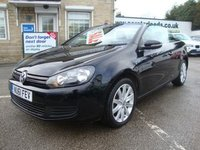 USED 2012 12 VOLKSWAGEN GOLF 1.6 TDI BLUEMOTION TECH CONVERTIBLE GREAT VALUE AND GREAT SPEC GOLF CABRIOLET .. ONLY 34000 MILES !