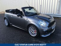 USED 2009 59 MINI CONVERTIBLE 1.6 S JOHN COOPER WORKS JCW CABRIOLET 210BHP TURBO FULL HISTORY, CHILLI PACK, COLOUR CODED