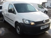 2014 VOLKSWAGEN CADDY MAXI 1.6 C20 TDI STARTLINE 1d 101 BHP LONG WHEELBASE ELECTRIC WINDOWS  £5995.00