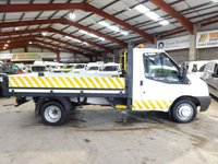 2013 FORD TRANSIT 2.2 T350 DRW MWB DROPSIDE / PICK UP -ONE OWNER- £8750.00