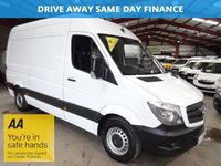 "USED 2014 63 MERCEDES-BENZ SPRINTER 2.1 316 CDI MWB 163 BHP - BIG ENGINE -FULL SERVICE HISTORY ""YOU'RE IN SAFE HANDS"" - AA DEALER PROMISE"