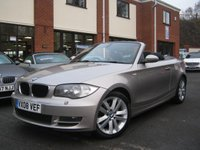 USED 2008 08 BMW 1 SERIES 2008 08-Reg BMW 120d SE Auto Convertible,RARE AUTO DIESEL,SAT NAV,LEATHER!!!