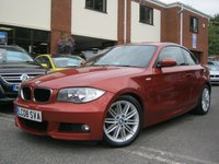 USED 2008 08 BMW 1 SERIES 2008 08-Reg BMW 120D M SPORT COUPE,GEN 75,000 MILES,SEDONA RED,MUST SEE!!!