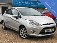 USED 2010 60 FORD FIESTA 1.4 ZETEC 16V 5d 96 BHP Immaculate Example with Parking Sensors, USB & AUX