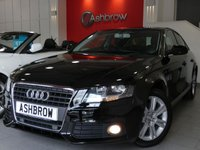 USED 2011 11 AUDI A4 2.0 TDI TECHNIK 4d 170 S/S SAT NAV, FULL BLACK LEATHER, FRONT & REAR PARKING SENSORS WITH DISPLAY, CRUISE CONTROL, BLUETOOTH PHONE, AUDI MUSIC INTERFACE (AMI), MMI WITH 2x SD CARD READERS, 17 INCH 7 SPOKE ALLOYS, LIGHT & RAIN SENSORS WITH AUTO DIMMING REAR VIEW MIRROR, LEATHER MULTIFUNCTION STEERING WHEEL, DUAL CLIMATE AIR CON, FULL SERVICE HISTORY, HPI CLEAR