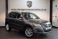 USED 2011 11 VOLKSWAGEN TIGUAN 2.0 SPORT TDI 4MOTION DSG 5DR AUTO 138 BHP + FULL BLACK LEATHER INTERIOR + FULL SERVICE HISTORY + HEATED SPORT SEATS + AUXILARY PORT + HEATED MIRRORS +17 INCH ALLOY WHEELS +