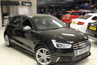 USED 2015 15 AUDI S1 2.0 QUATTRO SPORTBACK 5d 228 BHP HALF BLACK LEATHER SPORT SEATS + FULL AUDI SERVICE HISTORY + BLUETOOTH + 17 INCH ALLOYS + PARKING SENSORS + SPORT CHASSIS