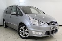 USED 2012 62 FORD GALAXY 1.6 TITANIUM X TDCI 5DR 115 BHP LEATHER SEATS + 7 SEATS + BLUETOOTH + PARKING SENSOR + CRUISE CONTROL + MULTI FUNCTION WHEEL + AUXILIARY PORT + 17 INCH ALLOY WHEELS