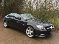 USED 2011 11 MERCEDES-BENZ CLS CLASS 3.0 CLS350 CDI BlueEFFICIENCY AMG Sport 7G-Tronic Plus 4dr Obsidian Black /1 Former Keeper