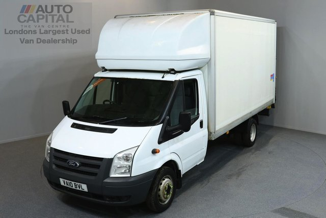 2010 10 FORD TRANSIT 2.4 350 E/F DRW 3d 115 BHP LWB TAIL LIFT LUTON VAN   ONE OWNER FROM NEW