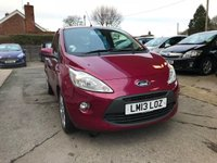 USED 2013 13 FORD KA 1.2 TITANIUM 3d 69 BHP NEED FINANCE? WE STRIVE FOR 94% ACCEPTANCE