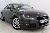 USED 2012 62 AUDI TT 1.8 TFSI SPORT 2DR AUTOMATIC 158 BHP FULL AUDI SERVICE HISTORY + HALF LEATHER SEATS + SAT NAVIGATION + BLUETOOTH + PARKING SENSOR + MULTI FUNCTION WHEEL + 17 INCH ALLOY WHEELS