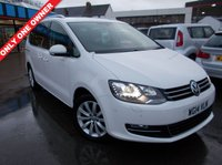 USED 2014 14 VOLKSWAGEN SHARAN 2.0 SEL TDI 5d 142 BHP 12 MONTHS MOT. 6 MONTHS WARRANTY LOW MILES, Absolutely Stunning in White... FINANCE AVAILABLE...
