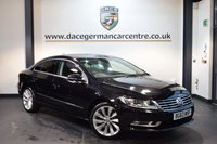 USED 2014 63 VOLKSWAGEN CC 2.0 GT TDI BLUEMOTION TECHNOLOGY 4DR 138 BHP + FULL BLACK LEATHER INTERIOR + VW SERVICE HISTORY + 1 OWNER FROM NEW + SATELLITE NAVIGATION + BLUETOOTH + HEATED SPORT SEATS + CRUISE CONTROL + RAIN SENSORS + DAB RADIO + HEATED MIRRORS + PARKING SENSORS + 18 INCH ALLOY WHEELS +