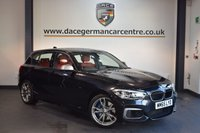USED 2015 65 BMW 1 SERIES 3.0 M135I 5DR AUTO 322 BHP + FULL RED LEATHER INTERIOR + BMW SERVICE HISTORY + 1 OWNER FROM NEW + SATELLITE NAVIGATION + BLUETOOTH + SPORT SEATS + LIGHT PACKAGE + RAIN SENSORS + DAB RADIO + AUTO AIR CONDITIONING + 18 INCH ALLOY WHEELS +