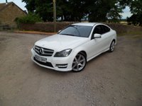USED 2013 MERCEDES-BENZ C-CLASS 2.1 C220 CDI BLUEEFFICIENCY AMG SPORT COUPE 2d AUTO 170 BHP STUNNING IN WHITE. SAT NAV. BLUETOOTH. AUDIO STREAMING. EXCELLENT HISTORY