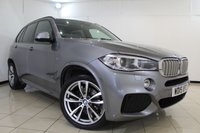 USED 2015 15 BMW X5 3.0 XDRIVE40D M SPORT 5DR AUTOMATIC 309 BHP FULL BMW SERVICE HISTORY + HEATED LEATHER SEATS + 7 SEATS + SAT NAVIGATION + PANORAMIC ROOF + REVERSE CAMERA + BLUETOOTH + CRUISE CONTROL + MULTI FUNCTION WHEEL + 20 INCH ALLOY WHEELS
