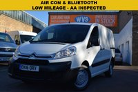 USED 2016 16 CITROEN DISPATCH 1.6 1000 L1H1 ENTERPRISE HDI 1d 89 BHP A low mileage 2016 Citroen Dispatch L1 1.6hdi 90 Enterprise van in white for just £9999 + vat.