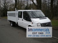 2009 FORD TRANSIT 2.4 350 DRW 1d 100 BHP CREW CAB EX MOD PICKUP/DROPSIDE WITH TAIL LIFT  £SOLD