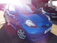 2011 TOYOTA AYGO 1.0 VVT-I BLUE 3d 67 BHP £2995.00