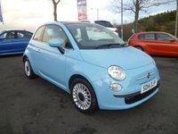 2014 FIAT 500 1.2 LOUNGE 3d 69 BHP £6399.00