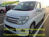 2004 NISSAN ELGRAND VG  4 Wheel Drive3.5 Automatic 8 Seats Facelift.2 Power slide doors. £6000.00