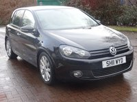 USED 2011 11 VOLKSWAGEN GOLF 2.0 GT TDI DSG 5d AUTO 138 BHP 2 PREVIOUS KEEPERS ++   CRUISE CONTROL ++  SERVICE RECORD ++  ALLOY WHEELS ++