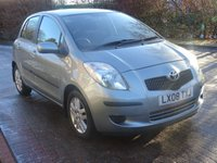 2008 TOYOTA YARIS 1.3 TR MM 5d AUTO 86 BHP £4000.00