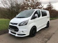 2014 FORD TRANSIT CUSTOM 2.2 270 LR DCB 125 BHP 6 SEAT CREW VAN RS STYLING PACK  £SOLD