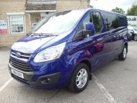 USED 2014 14 FORD TRANSIT CUSTOM 2.2 TDCI 125 290 LWB LIMITED 6DR CREWCAB  LOW MILEAGE TOP OF THE RANGE LWB CREW CAB 6 DOOR
