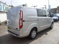 USED 2014 14 FORD TRANSIT CUSTOM 2.2 TDCI 125 290 LIMITED CREWCAB ( 6 SEAT ) TOP OF THE RANGE LIMITED MODEL COMBI CREW CAB