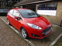 USED 2013 63 FORD FIESTA 1.2 ZETEC 5d 81 BHP 1 OWNER FROM NEW, 2 KEYS, £30 A YEAR ROAD TAX
