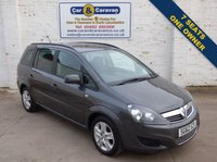 USED 2012 62 VAUXHALL ZAFIRA 1.6 EXCLUSIV 5d 113 BHP One Owner Low Mileage 7 Seats 0% Deposit Finance Available