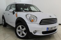 USED 2013 62 MINI COUNTRYMAN 2.0 COOPER D 5DR AUTOMATIC 110 BHP SERVICE HISTORY + PARKING SENSOR + AIR CONDITIONING + MULTI FUNCTION WHEEL + DAB RADIO + ALLOY WHEELS