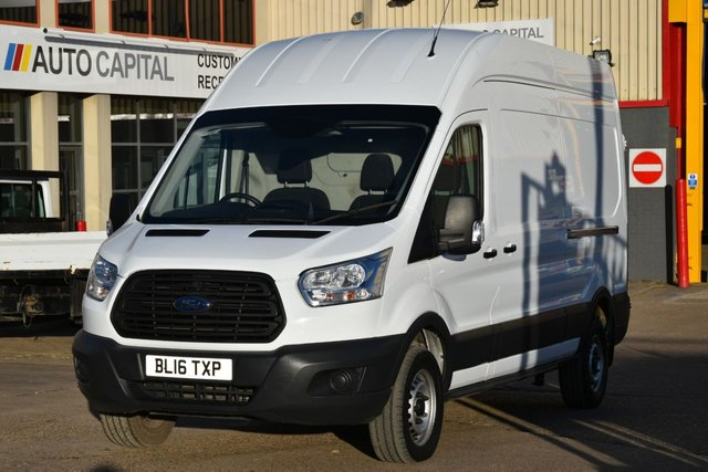 2016 16 FORD TRANSIT 2.2 350 H/R P/V 5d 124 BHP HR LWB RWD ELECTRIC WINDOWS BLUETOOTH ONE OWNER FROM NEW