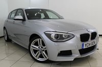 USED 2014 14 BMW 1 SERIES 1.6 118I M SPORT 5DR 168 BHP BMW SERVICE HISTORY + HEATED LEATHER SEATS + PARKING SENSOR + CRUISE CONTROL + BLUETOOTH + MULTI FUNCTION WHEEL + 18 INCH ALLOY WHEELS