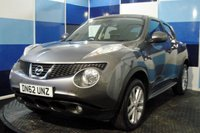 USED 2013 62 NISSAN JUKE 1.6 TEKNA 5d 117 BHP A pristine example of this highly regarded family crossover, this car is finished in totally unmarked gun metalic grey with contrasting silver alloy wheels ,the car comes fully loaded with satelite navigation,reversing camera ,full leather interior ,climate control,speed limiter/cruise control plus lots more.This car is in excellent condition throughout with very low milage and full service history ,this car needs to be viewed to be fully appreciated.