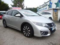 USED 2015 15 HONDA CIVIC 1.6 I-DTEC SR TOURER ( SAT NAV & LEATHER ) NEW SHAPE CIVIC SR TOURER ESTATE WITH GREAT SPEC !