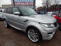 "USED 2013 63 LAND ROVER RANGE ROVER SPORT 3.0 SDV6 HSE 5d AUTO 288 BHP AUTOBIOGRAPHY DESIGN PACK, 22"" ALLOY WHEELS,F.S.H, SAT NAV, STUNNING"