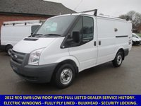 2012 FORD TRANSIT 260 SWB LOW ROOF WITH FULL HISTORY £6695.00