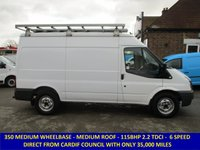 2011 FORD TRANSIT 115 350 MWB MEDIUM ROOF FROM CARDIFF COUNCIL £6795.00