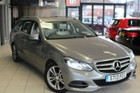 USED 2013 13 MERCEDES-BENZ E CLASS 2.1 E220 CDI SE 5d 168 BHP EXCELLENT MERCEDES BENZ SERVICE HISTORY + FULL GREY LEATHER SEATS + COMAND SAT NAV + ACTIVE PARK ASSIST + BLUETOOTH + NEW SHAPE + DAB RADIO + HEATED FRONT SEATS + CRUISE CONTROL + 17 INCH ALLOYS